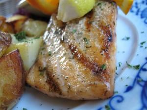 Grilled Basil Salmon