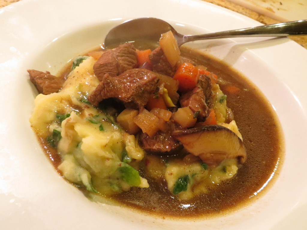 Espresso & Stout Lamb Stew served with Colcannon - perfect on a cold, rainy night!