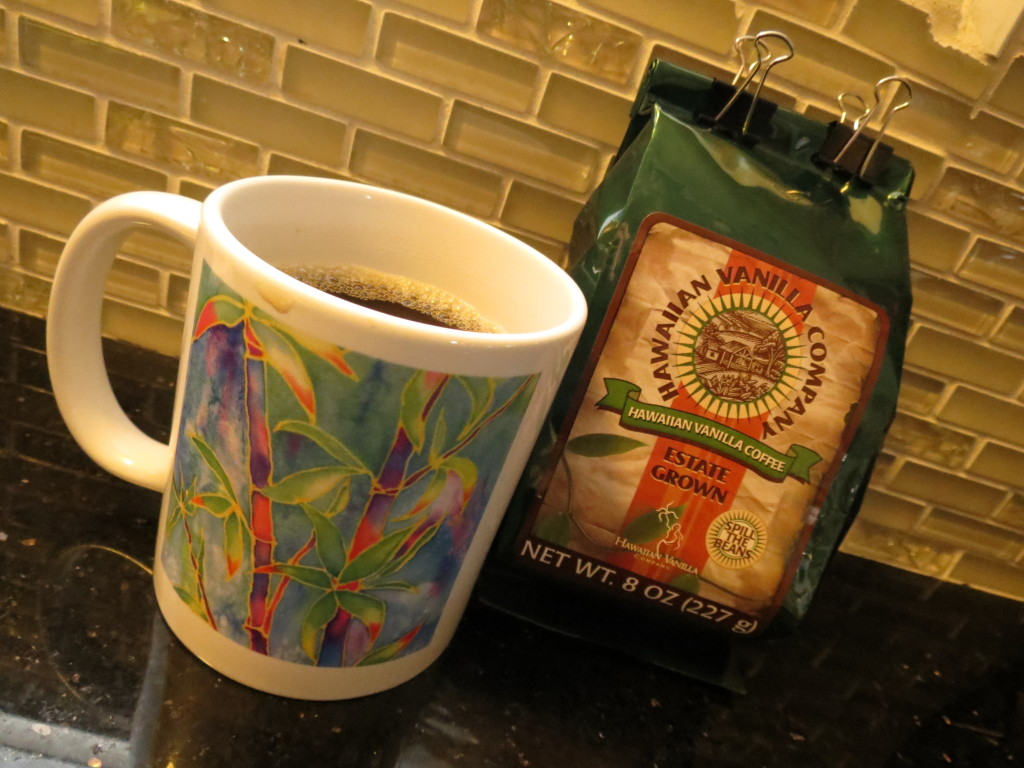 Hawaiian Vanilla Company Coffee ... so rich, so smooth, so perfect for a cool, stormy Sunday morning.