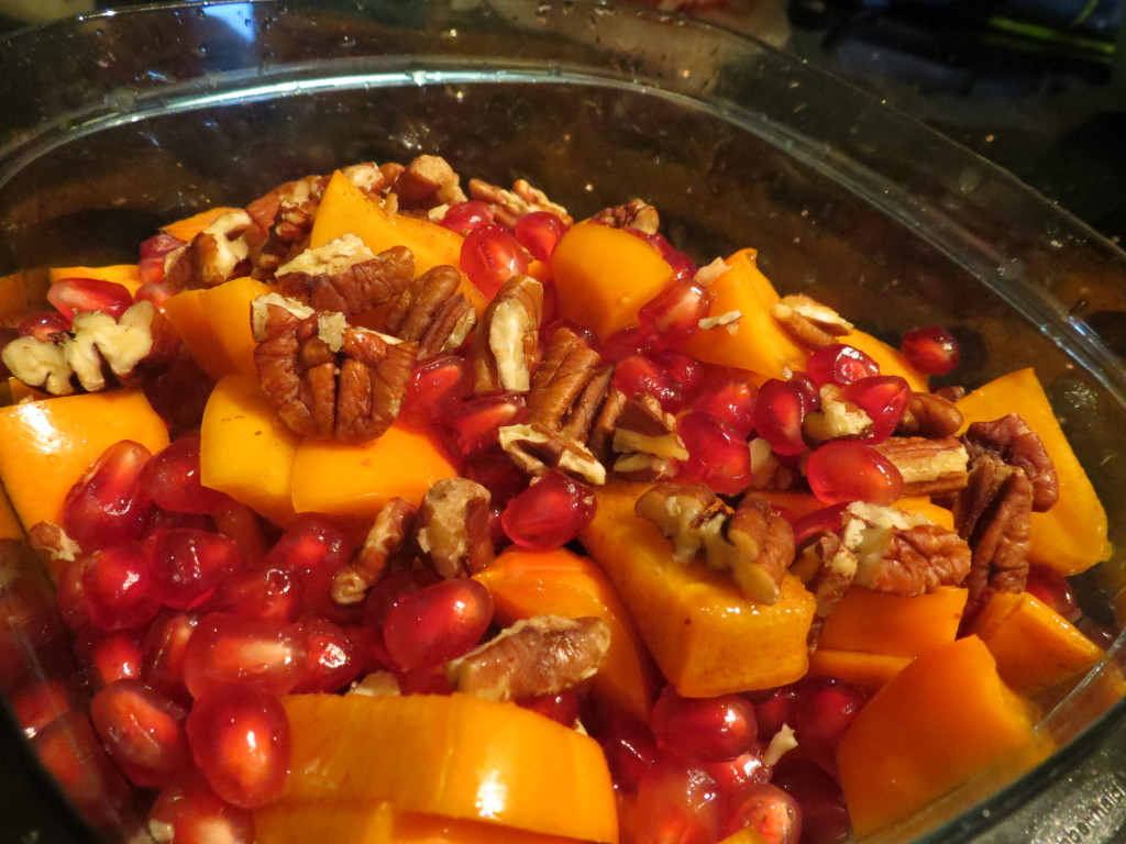 Pomegranate, Fuyu Persimmon, & Pecan Salad