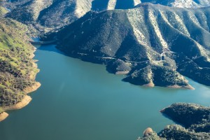 Lake Berryessa Dam  - see that windy road to the right? I have cycled that a time or two.